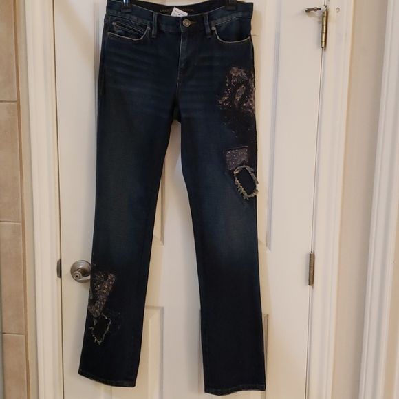 Lauren Jeans Distressed Embroiled Women's Jeans